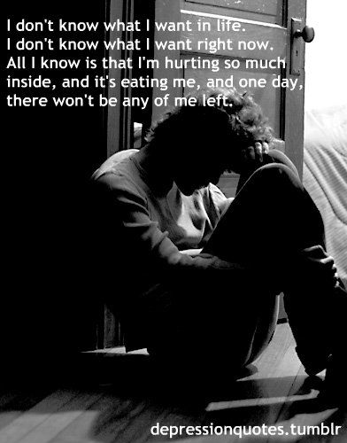 i dont know what i want in life - heartbroken quotes