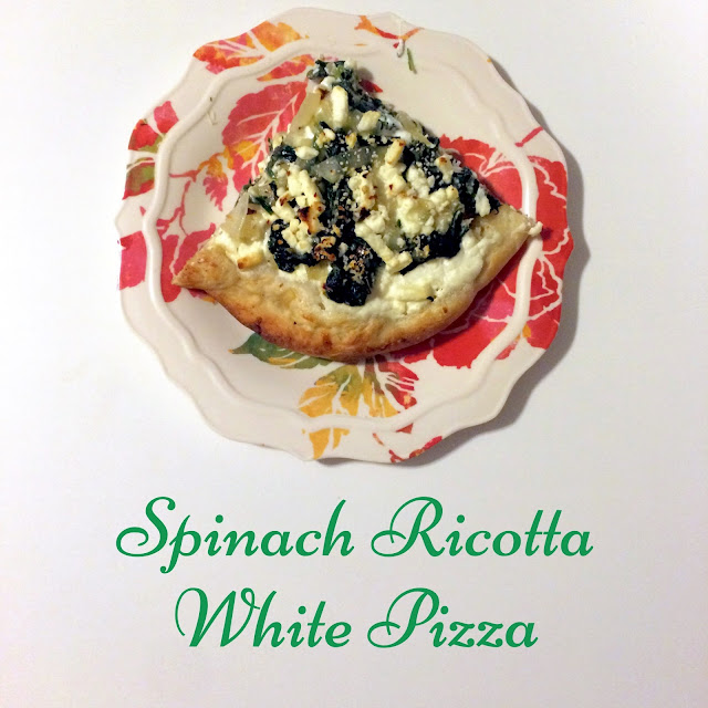 Spinach Ricotta White Pizza | My Name is Sara - mynameissarablog.blogspot.com