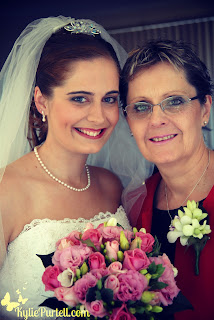 mother & daughter at wedding