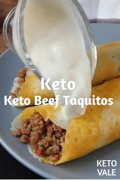 Keto Beef Taquitos With Cheese Taco Shells