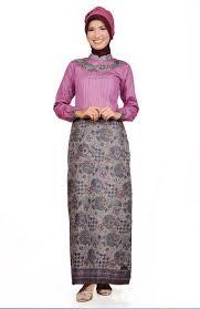 Model Dress Batik Kerja Muslimah Terbaru