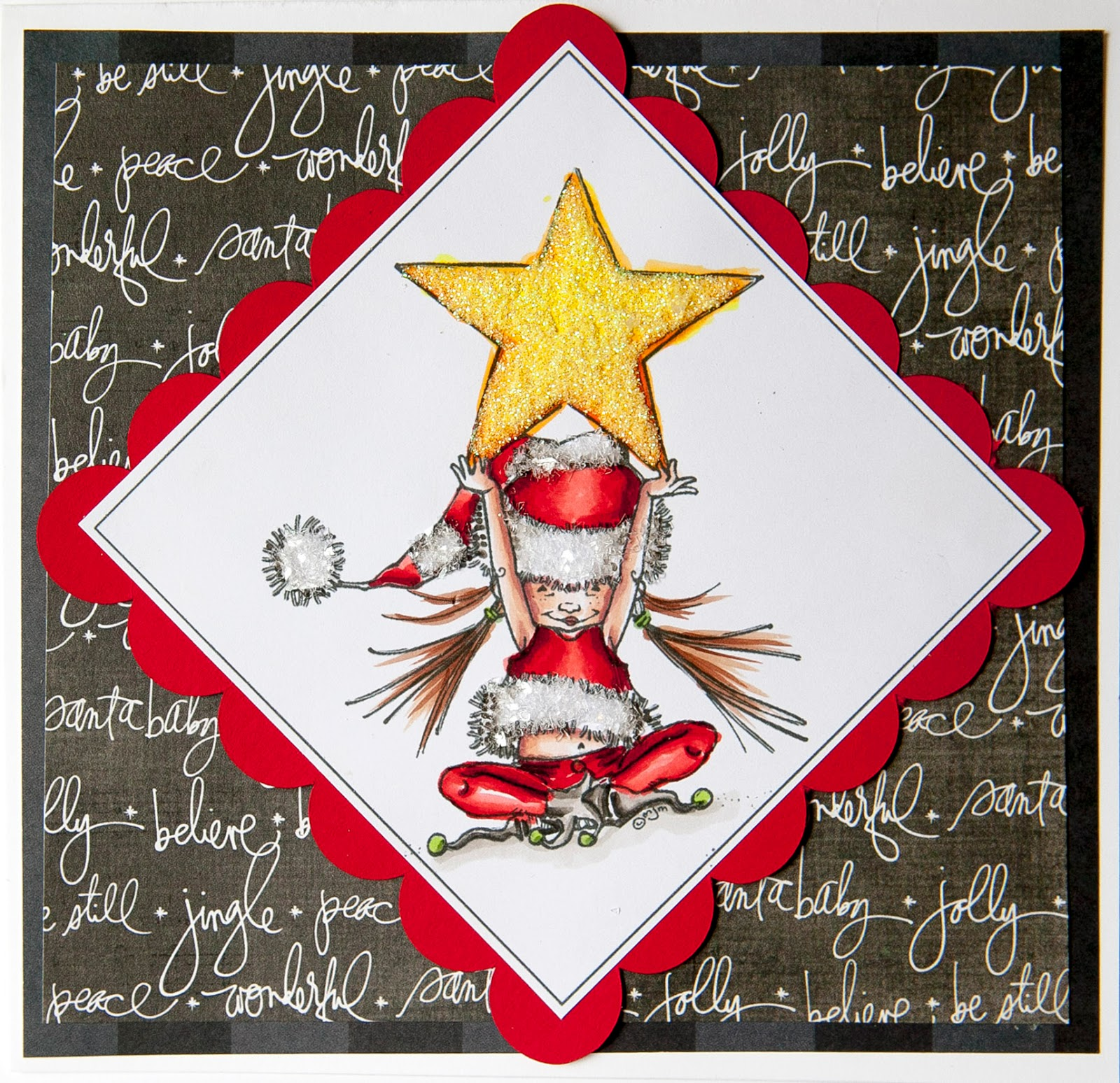 creative mayhem christmas cards with elvespenny black