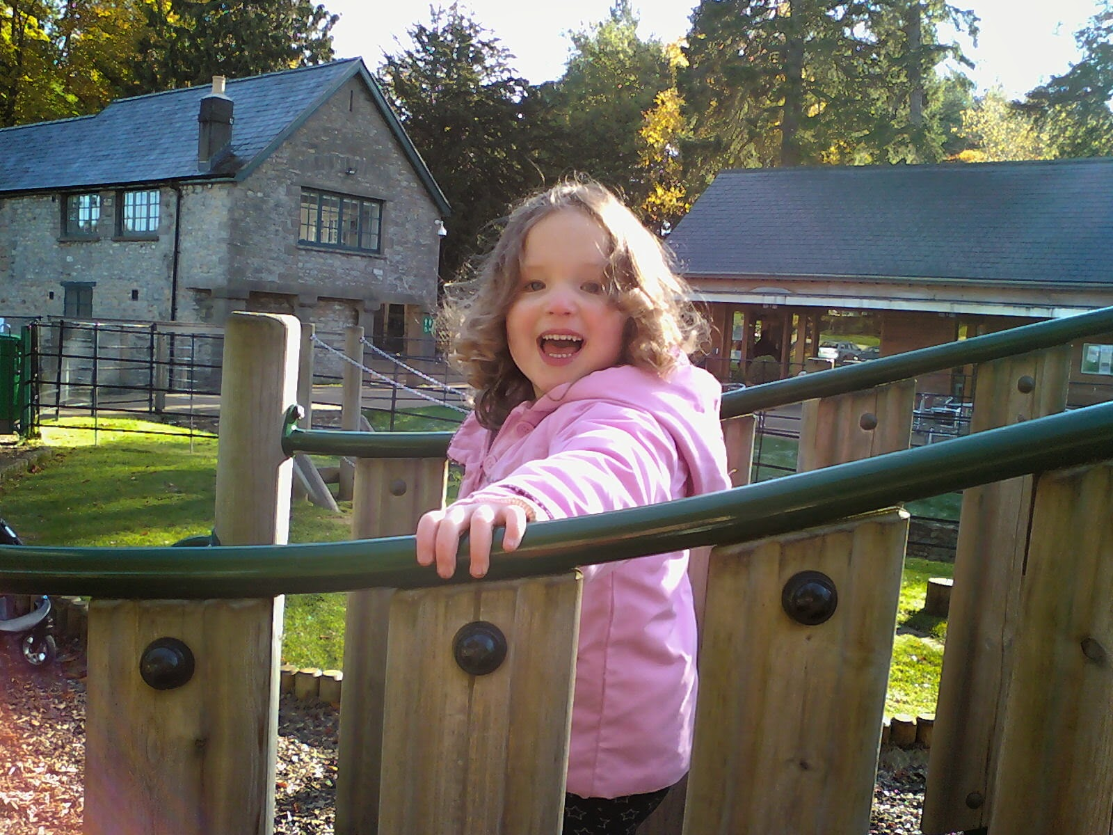 mother and toddler groups - Caitlin at the playground at Dyffryn Gardens