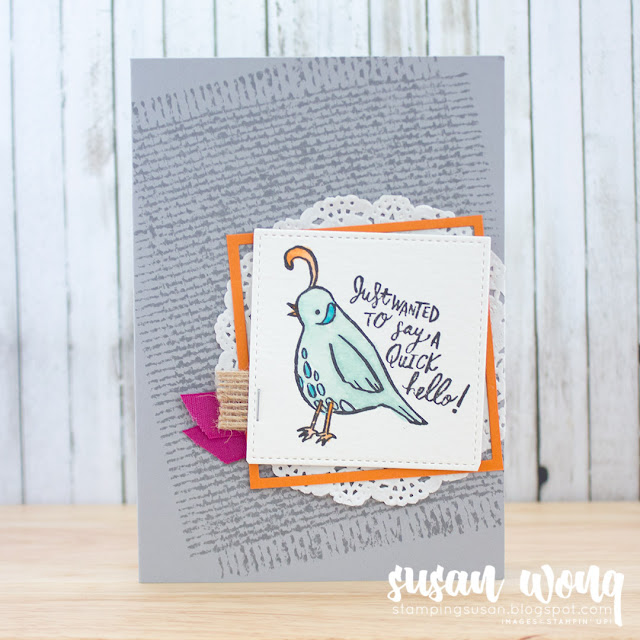 Quirky Friends Card - Susan Wong for Let's Get Hopping