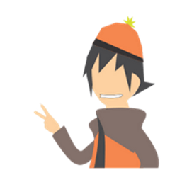 Orange Beanie Boy