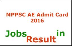 MPPSC AE Admit Card 2016