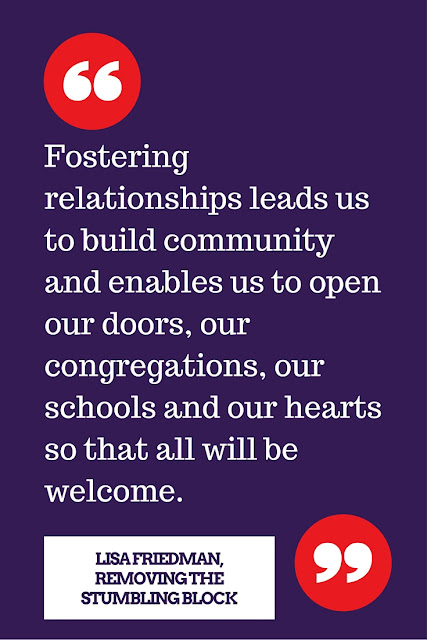Fostering relationships with parents; Removing the Stumbling Block
