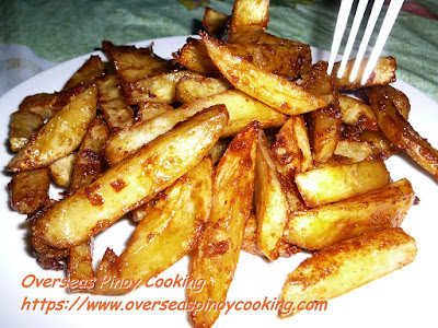 Caramel Kamote Fries Flavored with Cinnamon Recipe