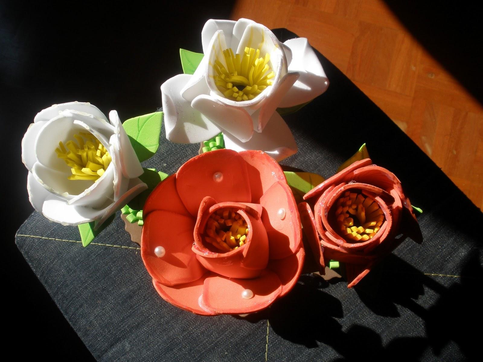 flores vistas desde arriba fofucha