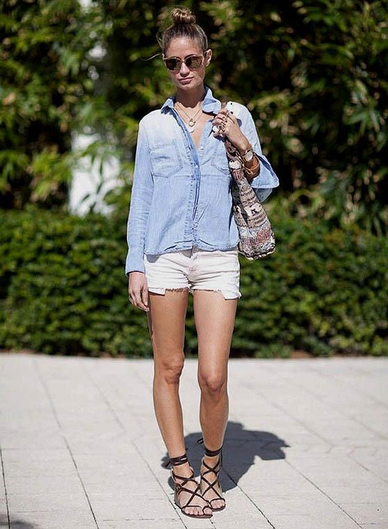 Sepatu model Lace up sandal membuat kaki nampak lebih jenjang
