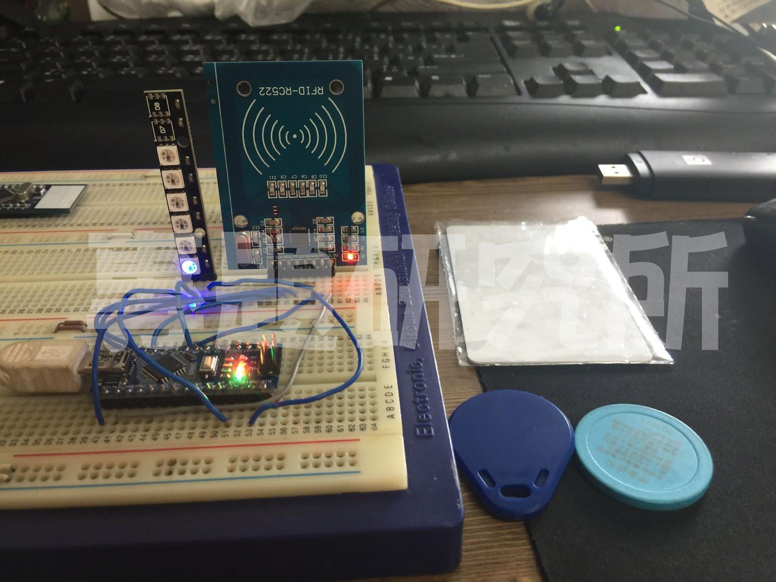 專題研究所: Arduino 運用RC522模組,讀取UID,根據不同的卡片改變LED顏色
