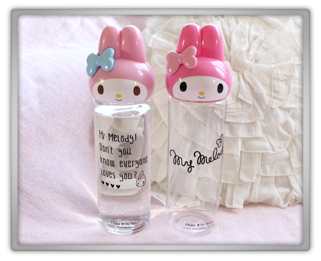 Etude House My Melody Bottles light pink dark hot limited edtition drink bottle beauty blog blogger review haul cute adorable 1