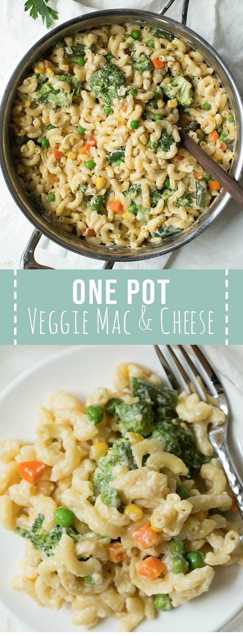One Pot Mac And Cheese With Veggies