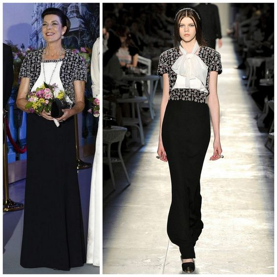 Princess Caroline in Chanel (Fall 2012 Couture)