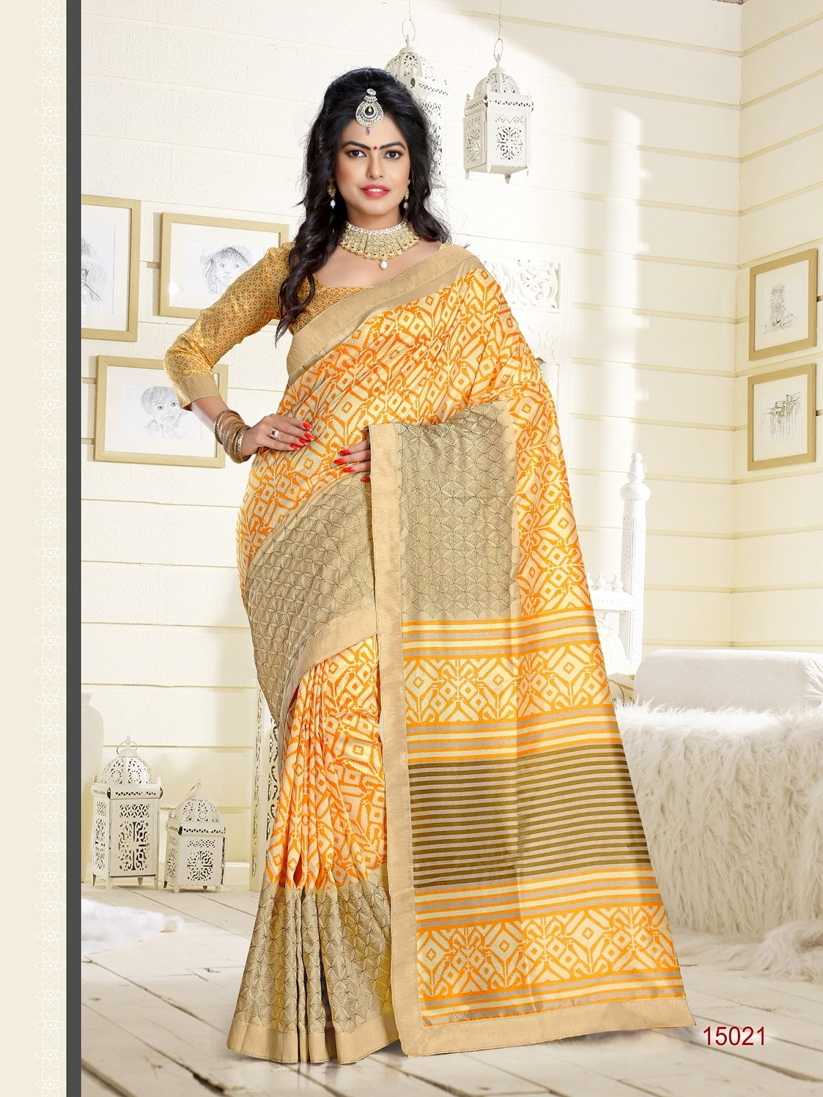 Ateriya- Thapa Manipuri silk with thread Embroidery Work Saree