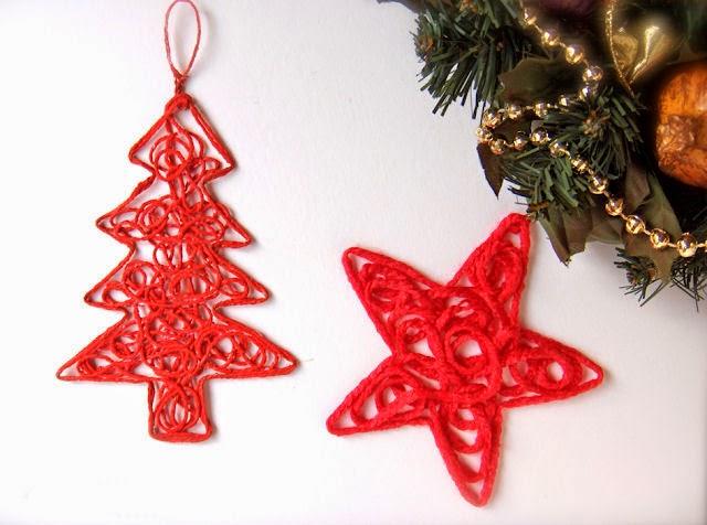 Haz arreglos de navidad con estambre o lana mimundomanual - Hacer adornos para el arbol de navidad ...