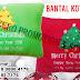 Souvenir Bantal Kotak Natal bisa bordir Logo Anda