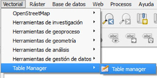 Table Manager uso de QGIS