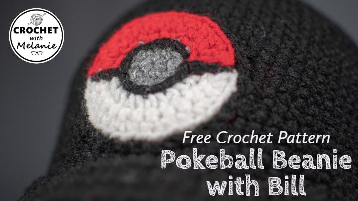 Pokeball Beanie With Bill Free Crochet Pattern