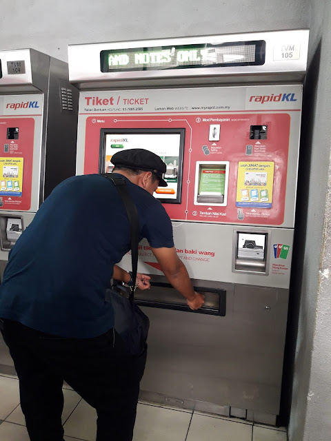 Mesin Tiket LRT Otomatis Kualalumpur