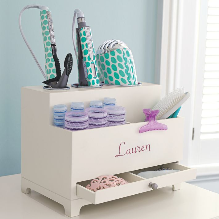 Hair Care Products Organizer, With Storage For Dryer, Curling Iron, Brushes  And More