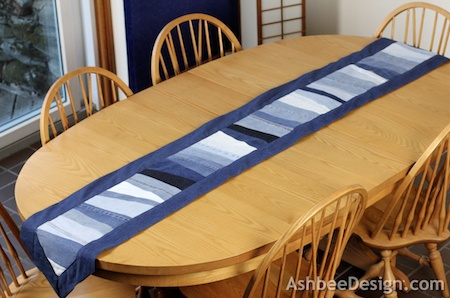 Ashbee Design River Of Jeans Table Runner