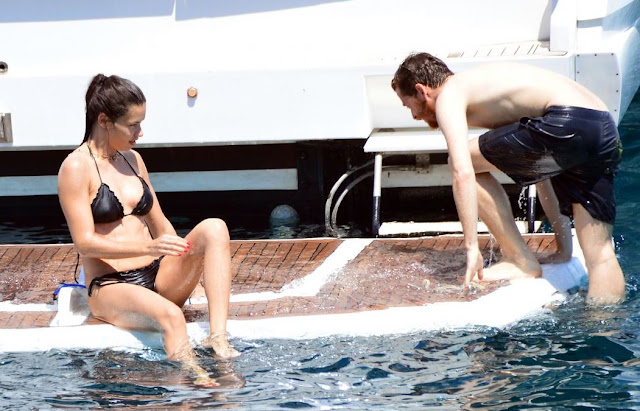 Adriana Lima in a Bikini on a Yacht in Bodrum, Turkey
