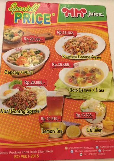 Review Makan Enak di MM Juice