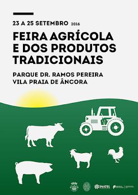 Cartaz da feira agrícola e dos produtos tradicionais em Vila Praia de Âncora