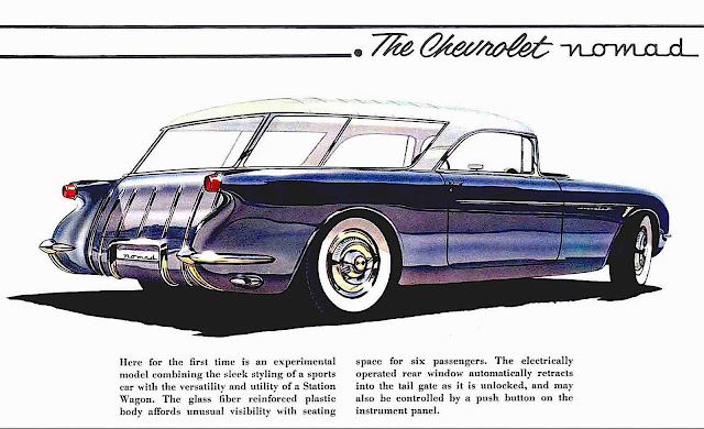 illustration, the Chevrolet Nomad concept car appeared at Motorama 1954