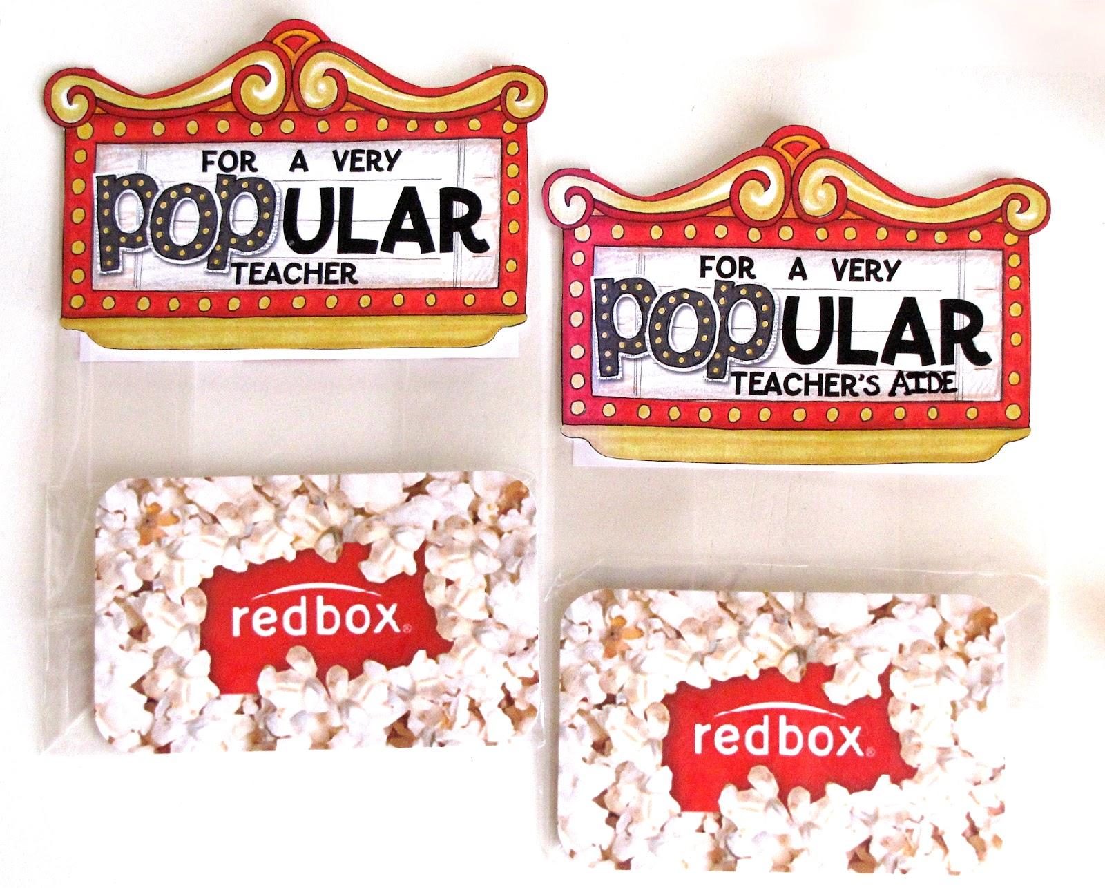 """""""popcornredboxgiftcardbagtopper"""