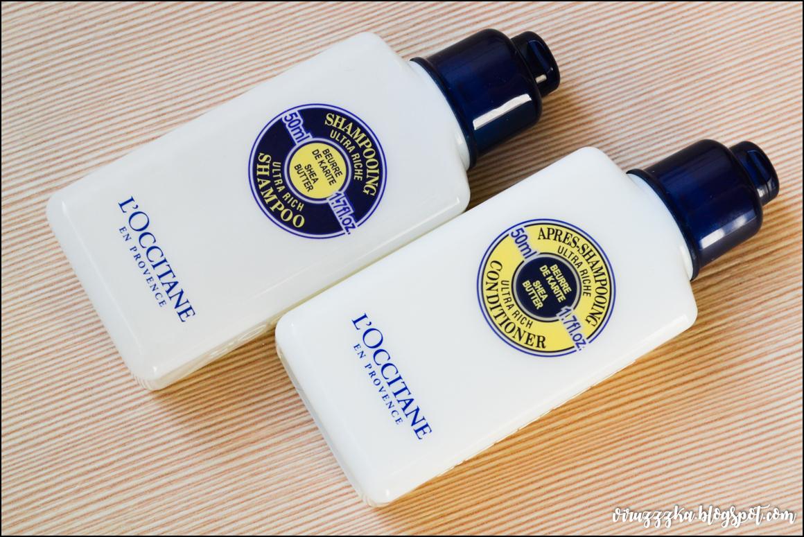 Ультра-питательный шампунь и бальзам с карите L'Occitane отзыв