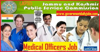 JKPSC Recruitment Alert 2018 Apply for 1000 Medical Officer Posts
