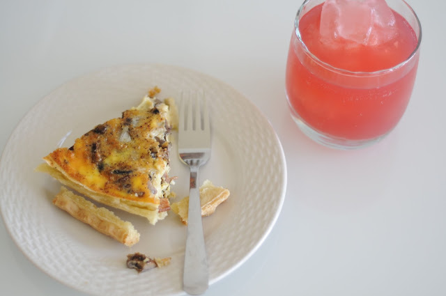 plated and beautiful quiche