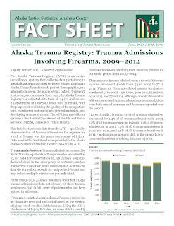 Alaska Trauma Registry: Trauma Admissions Involving Firearms, 2009–2014