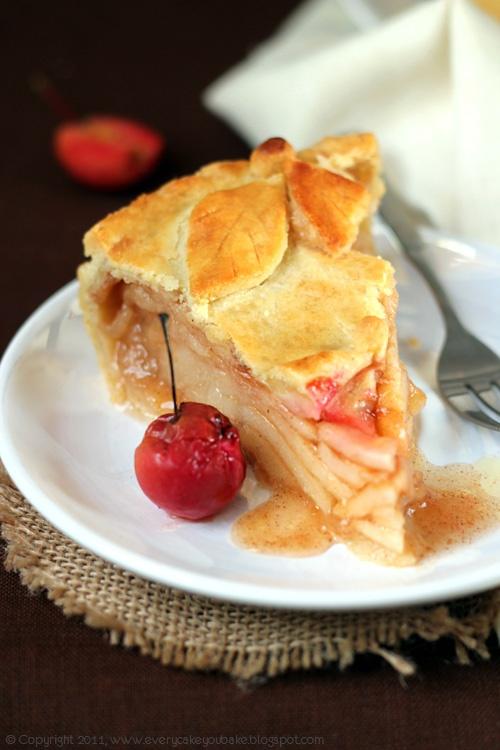 angielski kruchy paj z jabłkami