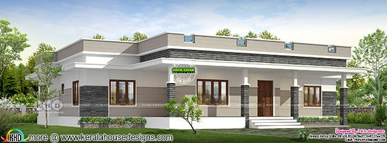 2298 square feet 3 bedroom flat roof home design