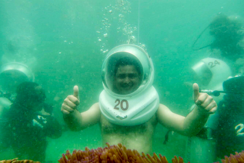 Underwater Sea Walk Experience in Pattaya