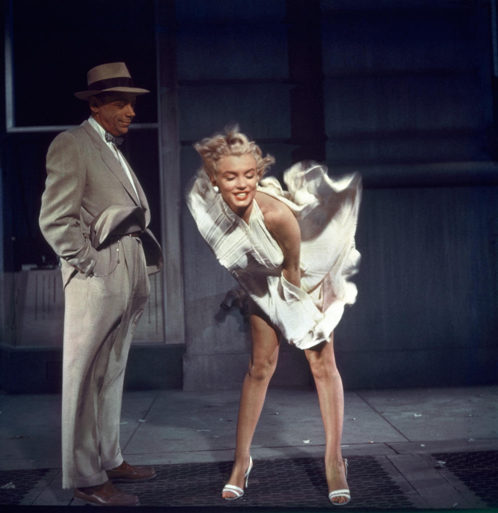 Behind The Scenes Of Marilyn Monroes Iconic Flying Skirt Photo