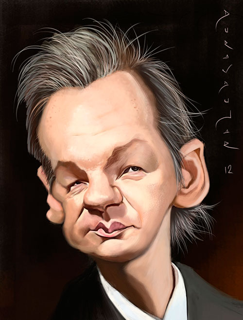 Julian Assange por Durán Andújar