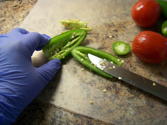 Chopping Jalapeno's
