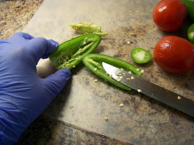 Chopping Jalapeno's