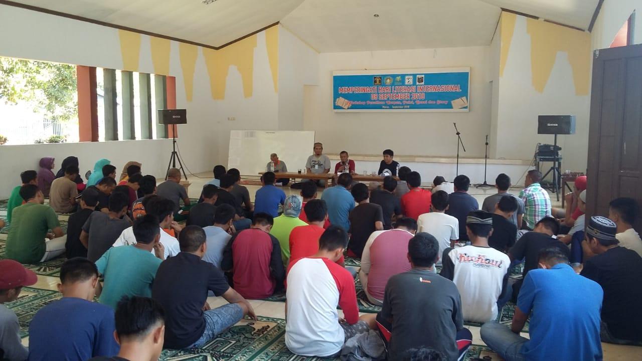 Peringati Hari Literasi Internasional di Lapas Maros