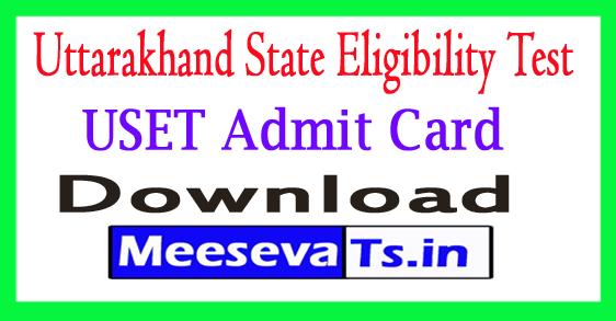Uttarakhand State Eligibility Test Admit Card 2018 Download Uttarakhand SET Hall Ticket