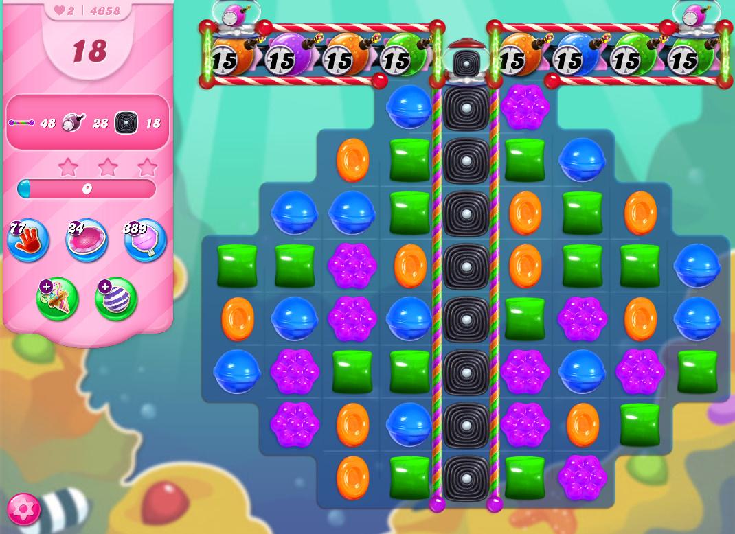 Candy Crush Saga level 4658