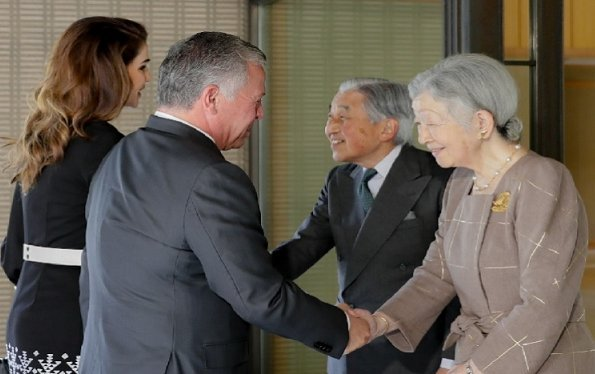 King and Queen met with Prime Minister Shinzo Abe, Emperor Akihito, Empress Michiko, Crown Prince Naruhito and Crown Princess Masako
