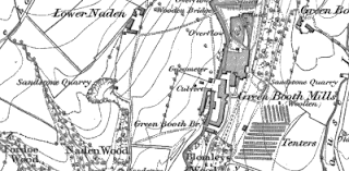 Green Booth Mills, OS map, 1848.