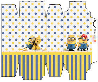 Minions, the Movie Free Printable Box.