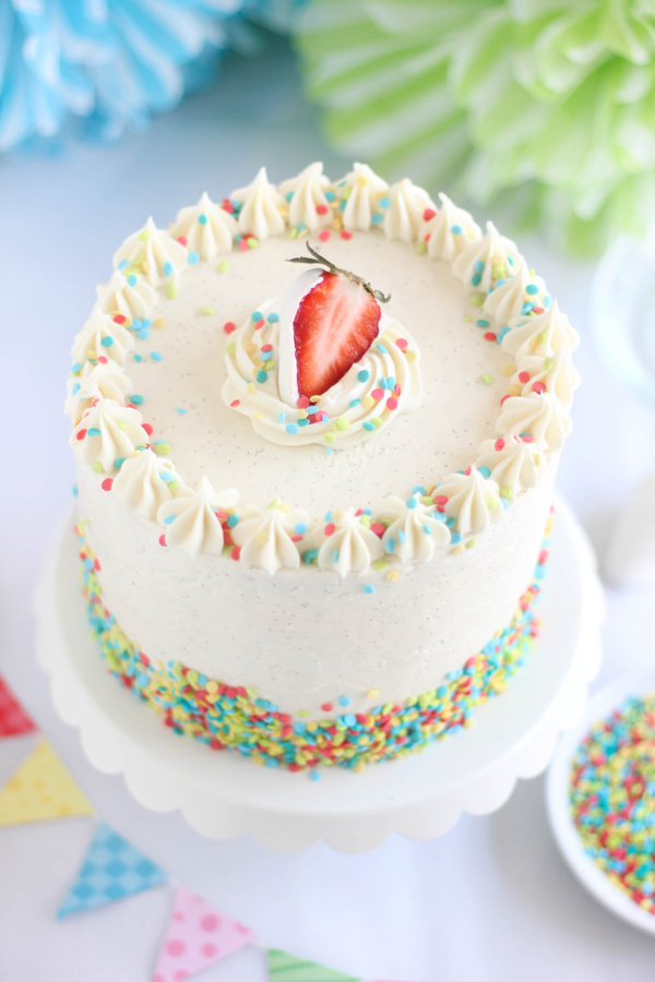 2 Year Old Little Girls Happy Birthday Wallpaper Strawberry Confetti Cake And Vanilla From Tahiti Giveaway