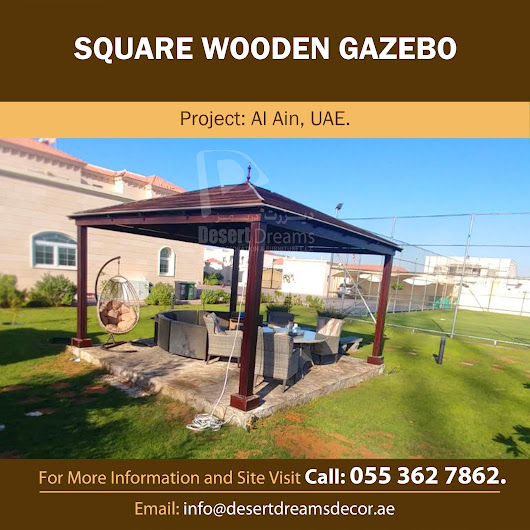 WOODEN GAZEBO DUBAI | WOODEN GAZEBO CONTRACTOR IN UAE.